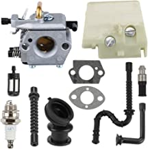 Butom MS260 Carburetor with Air Filter Buffer Fuel Line for Stihl 024 026 MS240 Chainsaw WT-194 1121 120 0611
