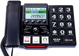 LULUD Fixed Telephone - Corded Telephones Home - Retro Landline Phone - Corded Telephones with Answer Machine (Color : C)
