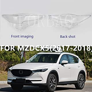PORBAO Light Covers Headlight Clear Lens Cover for Mazda CX5 Left&Right Headlight Lamp Light Cover 2017 2018 (Pair)