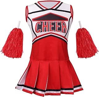 Cheerleader Costume for Girls Halloween Cute Uniform Outfit