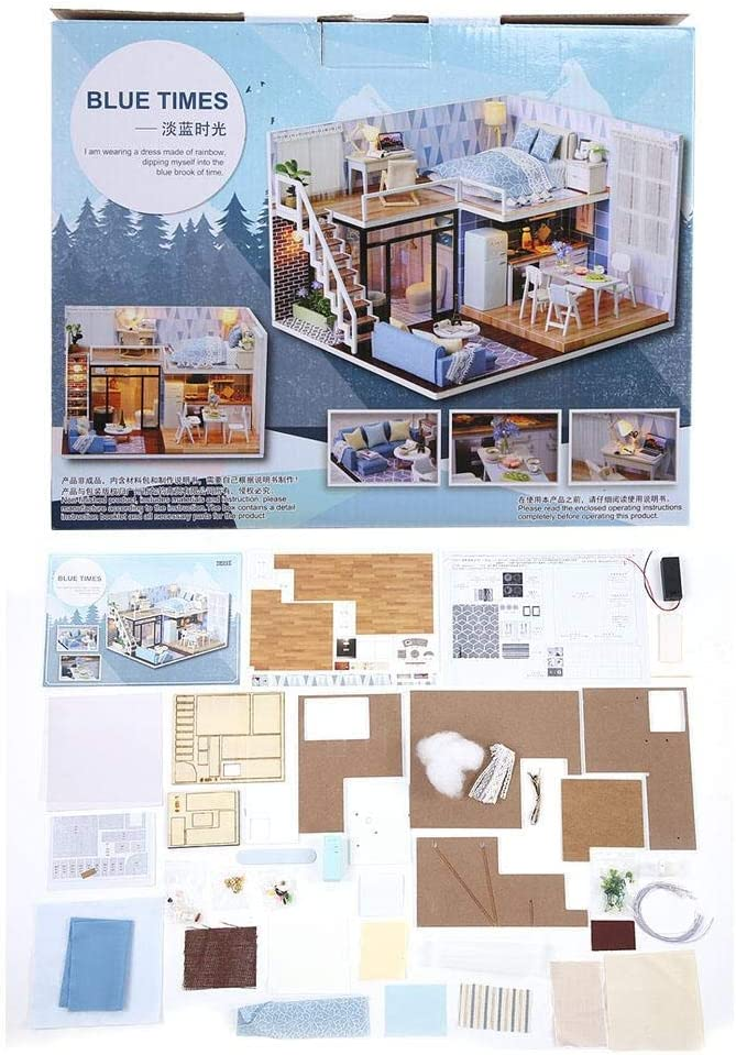 LAJS 3D Max 89% OFF Wooden Doll House Safety and trust Puzzle Assembly Easy Dollh