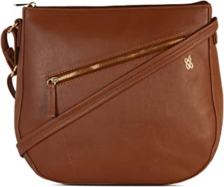 Baggit Autumn/Winter 2020 Faux Leather Women's Saddle Handbag (Tan) (Radik)