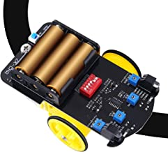 WHDTS TT Motor Robot Smart Car Self-Assembly Project Kits Infrared Tracking Obstacle Avoidance Line Tracking Robot Kits DIY Electronics Practice Learning Kit School Competition