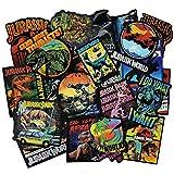 Dinosaur Stickers Jurassic World Park Decals, Laptop Water Bottle Skateboard Phone Motorcycle Bicycle Luggage Guitar Bike Sticker Vinyl Waterproof Decal 75pcs Pack