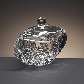 la galaica | Bombonera de Cristal - para Caramelos o Dulces - de Bohemia - Colección Orbit - 18x10x13,6 cm.