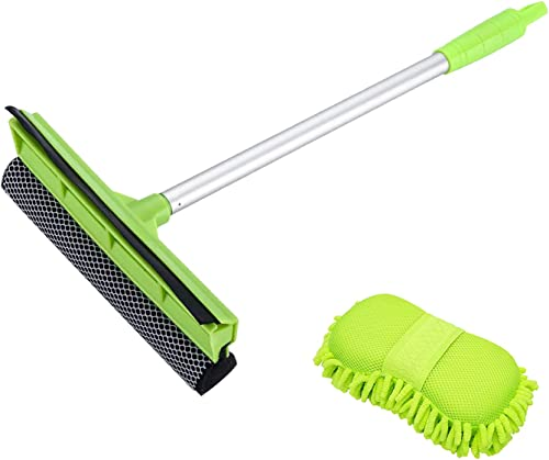 popular X sale XINDELL 2-in-1 Car Window Squeegee and Wash Sponge Mitt with Premium Chenille 2021 Microfiber online