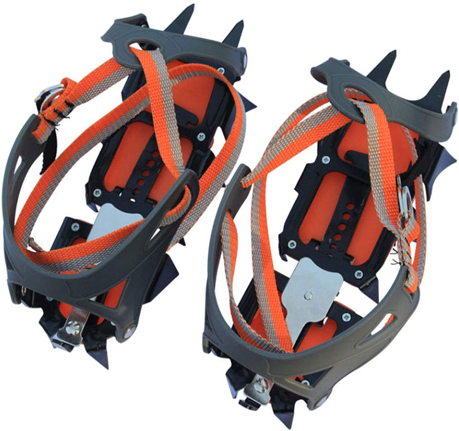 Crampons Outdoor Enhanced Version of Fourteen Teeth Large Tooth Cramps High Density Manganese Steel Material 14 Tooth Crampons with Snow Board
