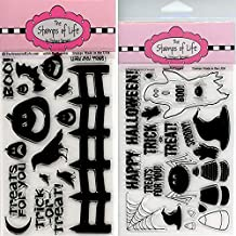 Spooky Halloween Stamps for Card-Making and Scrapbooking - Solids4Halloween and Spooky2Scare Combo Pack by The Stamps of Life