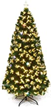 Artificial Xmas Tree Christmas Tree PVC Spruce with LED Warm Light (Size : 1.5m-5ft)