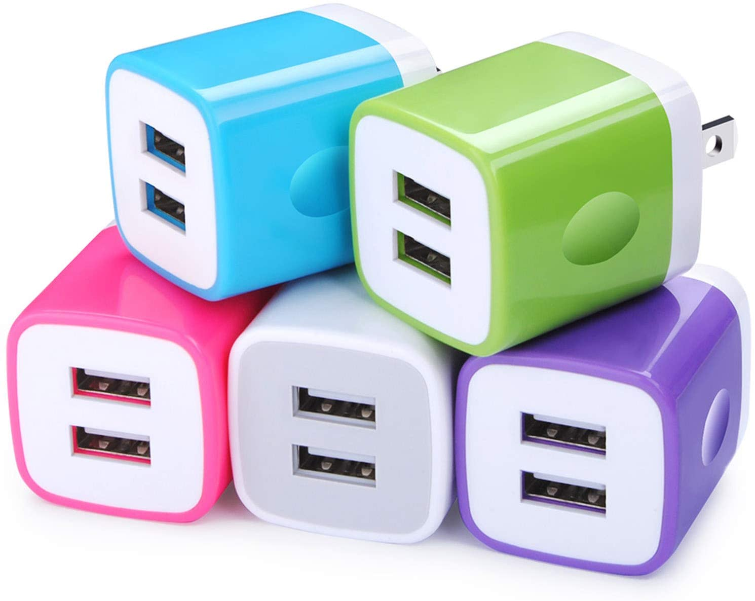USB Wall Very popular Charger FiveBox 5Pack Max 41% OFF Port 2.1A Dual Adapter