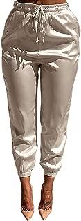 womens satin jogger pants