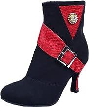 Vimedea Womens Practice Beginner Ankle Boots Scocial Dance Shoes Ballroom Zip 6135