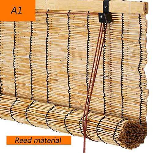 XZPENG Ciegos de bambú Cortinas Romanas decoración del hogar filtrar la luz Persiana Pasillo Cortina, 2…
