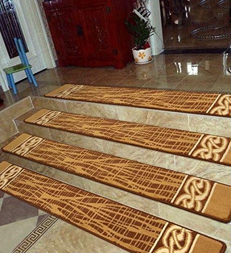 Scale Tappetino Pad 1-5 Pezzi,Ispessita Stair Intero Tappeto, Alta-passo Pad Mat Twisting Scala Carpet ( Colore : 3 pieces , dimensioni : 150*30cm )