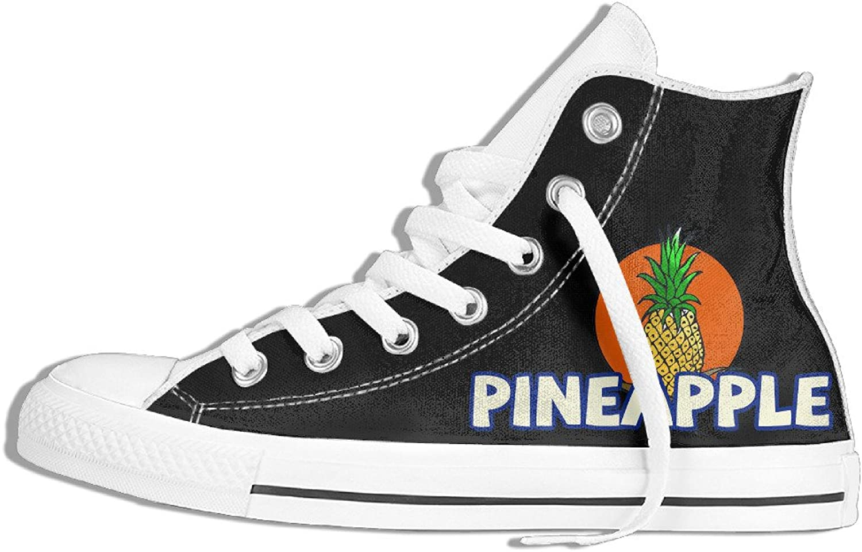 Efbj Pineapple Fruit Unisex Comfortable High Top Canvas Sneaker for Men and Women