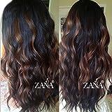 zanawigs ondulado pelo Remy estilo de Brasil Lace Front Peluca 130% full densidad Cabello humano pelucas pelo largo Fashion relieve color