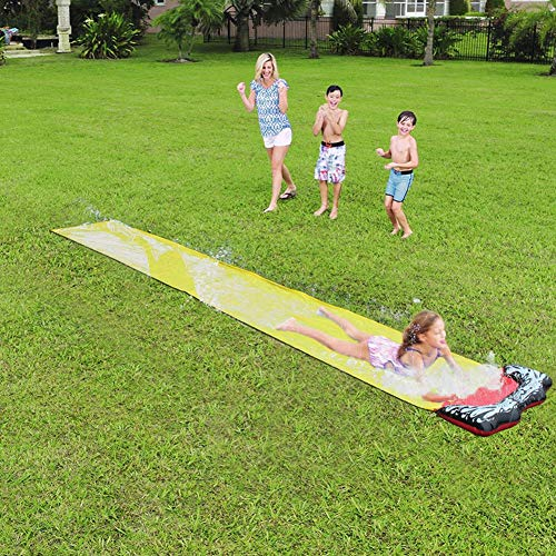 Fantastic Deal! Taimot Backyard Water Slides, Children's Slip Sheets People Surfboard Garden Toys Ad...