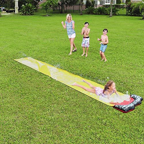 Fantastic Deal! Taimot Backyard Water Slides, Children's Slip Sheets People Surfboard Garden Toys Add Water Hose Single Surf Version for Water Pool Grass Summer Fun