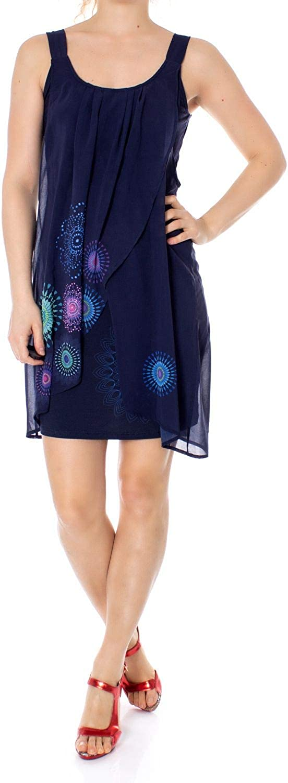 Desigual Women's 19SWVWBZblueE bluee Polyester Dress