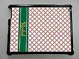 Grandeur Prints Custom iPad Mini, Mini 2, Mini 3Funda Personalizada Monogram Carcasa rígida–Negro (Enviar Nos patrón Nombre y Texto To Be Incluido)