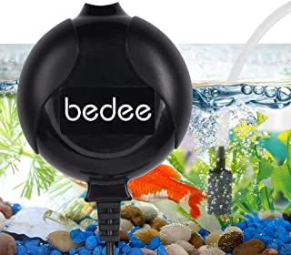 bedee Mini Fish Air Pump for Aquarium Ultra Silent High Energy Saving Quiet Oxygen Air Pump Aquarium for Fish Tank with Air Stone and Silicone Tube