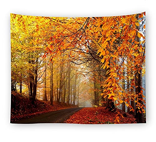KHKJ Foggy Forest Tapisserie Kopfteil Wandkunst Tagesdecke Wohnheim Tapisserie für Wohnzimmer Schlafzimmer HomeDecor A10 200x150cm