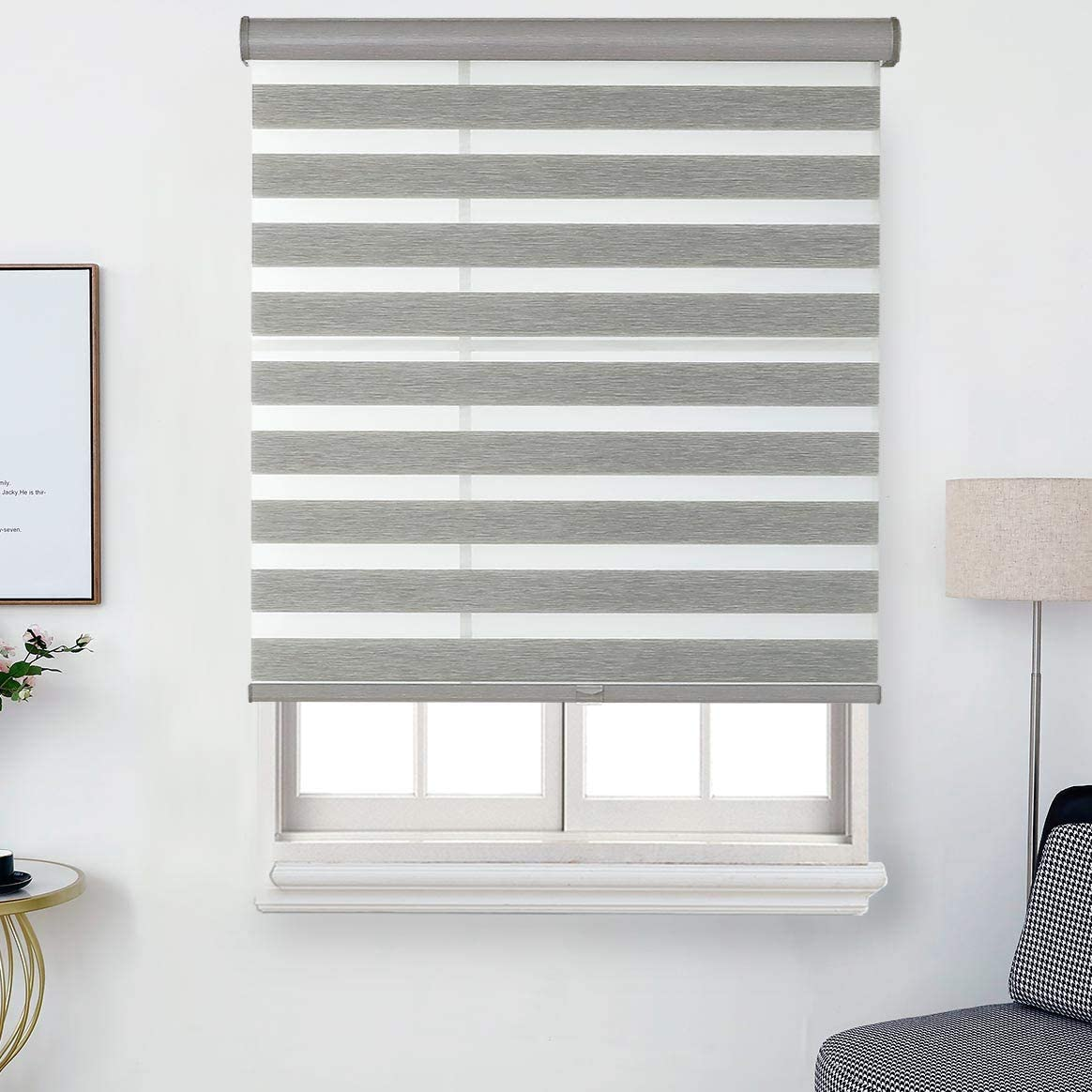 Everyday Celebration Faux excellence Linen Free-Stop Cordless Shade Zebra Max 49% OFF