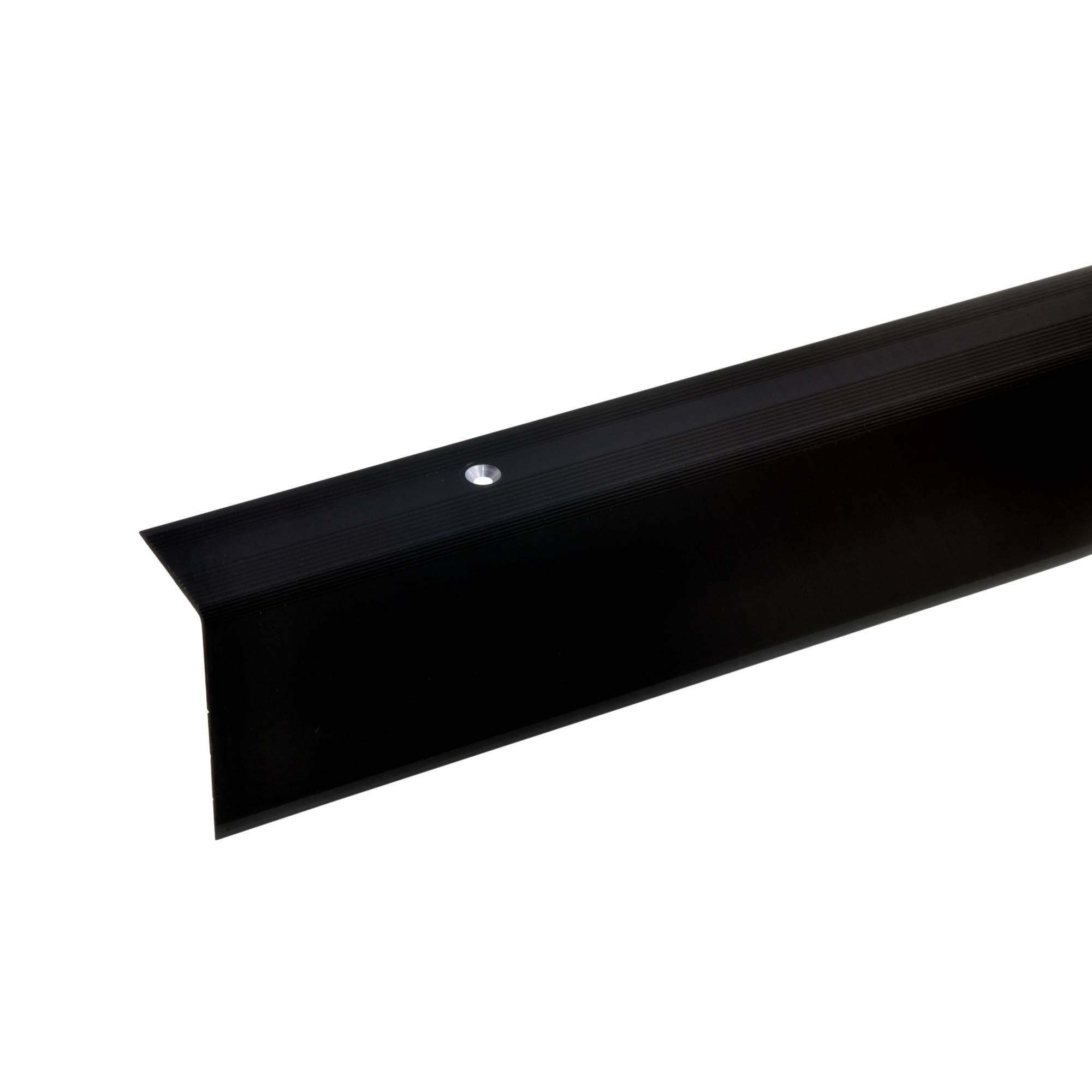 acerto 51044 Perfil angular de escalera de aluminio - 135cm 52x30mm bronce oscuro * Antideslizante * Robusto * Fácil instalación | Perfil de peldaño perfil de peldaño de escalera de aluminio: Amazon.es: Bricolaje y herramientas