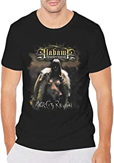 UISIWMSOE Alabama Thunderpussy River City Revival Men's Casual Slim Fit Short SleeveT-Shirts Shirts