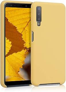 kwmobile telefoonhoesje compatibel met Samsung Galaxy A7 (2018) - Hoesje met siliconen coating - Smartphone case in mat pa...