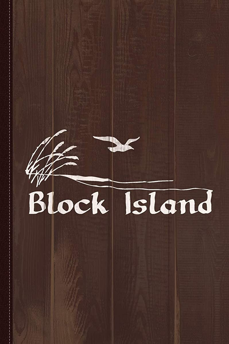 シーケンスピクニック仮定Block Island Vintage Journal Notebook: Blank Lined Ruled For Writing 6x9 120 Pages