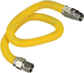 Flextron FTGC-YC38-24C 61 cm elastyczne złącze suszarki gazowej pokryte żywicą epoksydową z zewnętrzną średnicą 1/2 cala F...