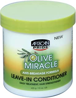 African Pride Olive Miracle Anti-Breakage Leave-In Conditioner 425g/15oz by AFRICAN PRIDE