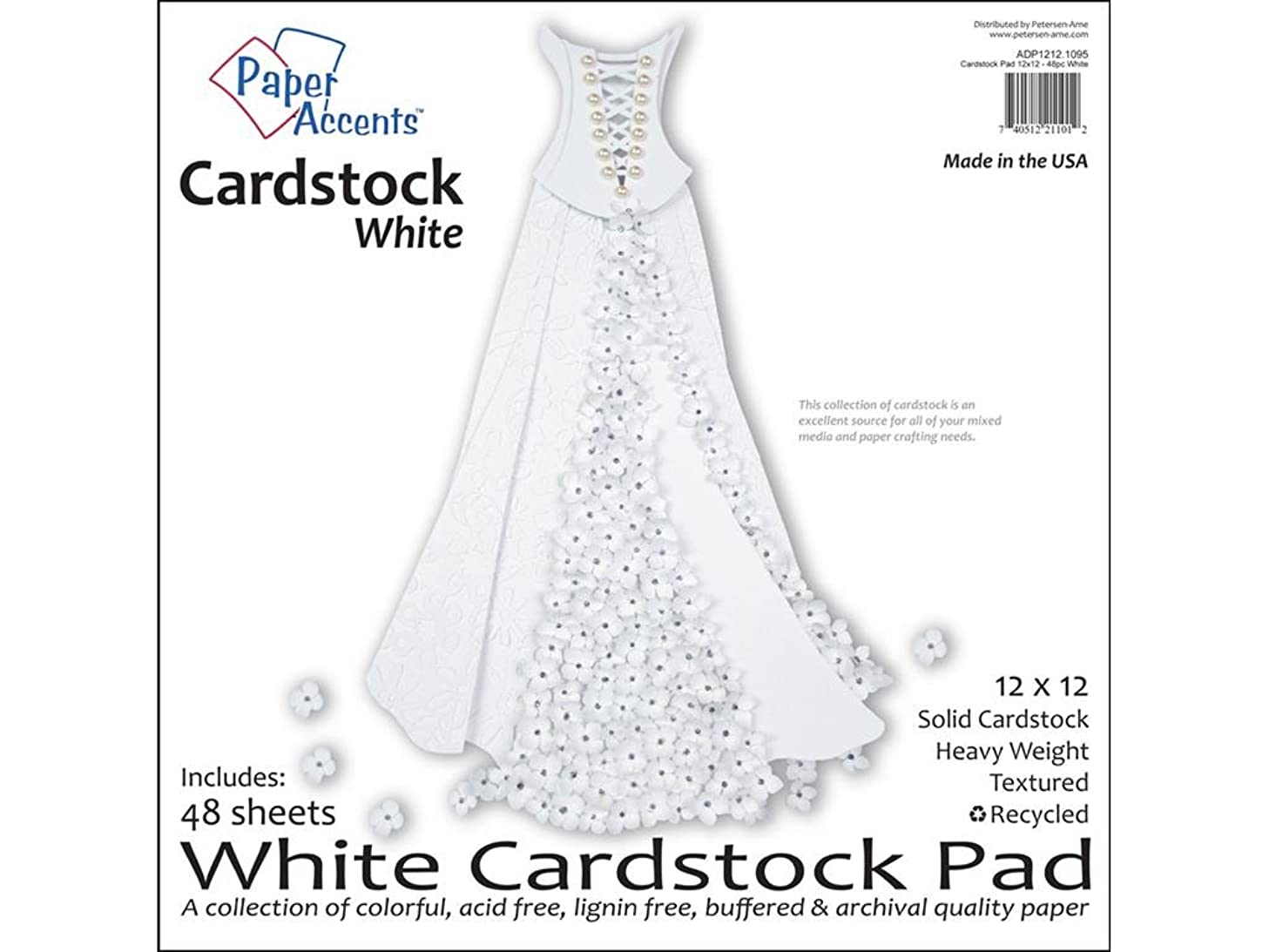 Accent Design Paper Accents 12x12 Cdstkt Pad White