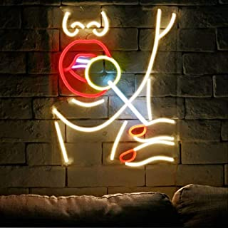 Lollipop Girl Cool LED Neon Sign Lights Art Wall Decorative Lights Bar Game Room Hotel Party