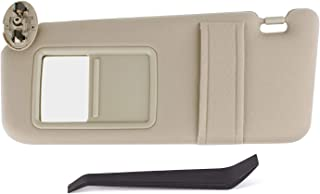 SouthWit Drivers Left Sun Visor Replaces for 2007 2008 2009 2010 2011 Toyota Camry/Hybrid Sunvisor #74320-06780-B0 - Tan Beige (NO SUNROOF)
