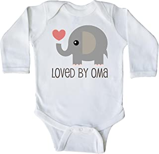 inktastic Grandchild Loved by Oma Gift Idea Long Sleeve Creeper