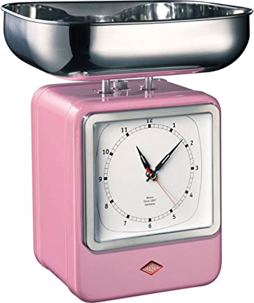 (Pink) - Wesco Retro Scales with Clock - Pink
