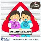Detalles Infantiles - Bebé a bordo mellizos. triángulo adhesivo para el coche