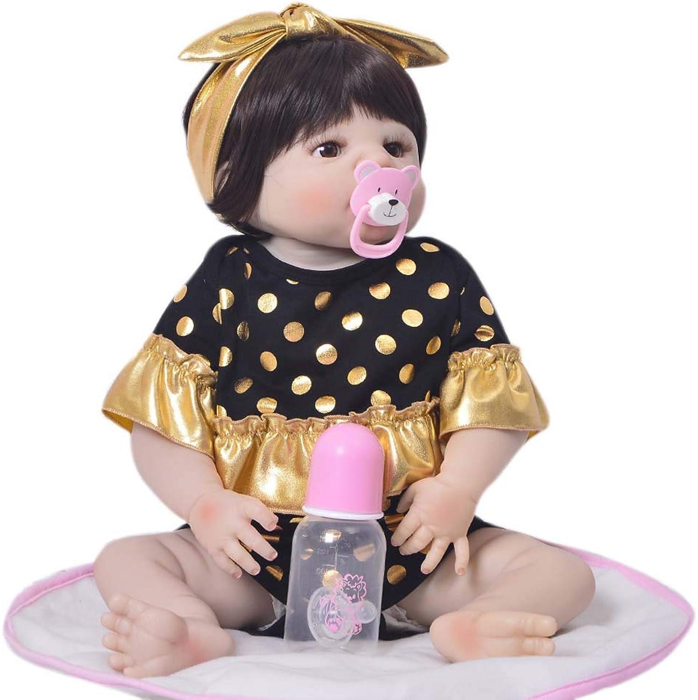 Real Touch 22 Realistische Reborn Babypuppe, realistische und lebensechte weiche Silikon suchen Neugeborenes Baby Doll Beste Geburtstagsgeschenk für Alter 3