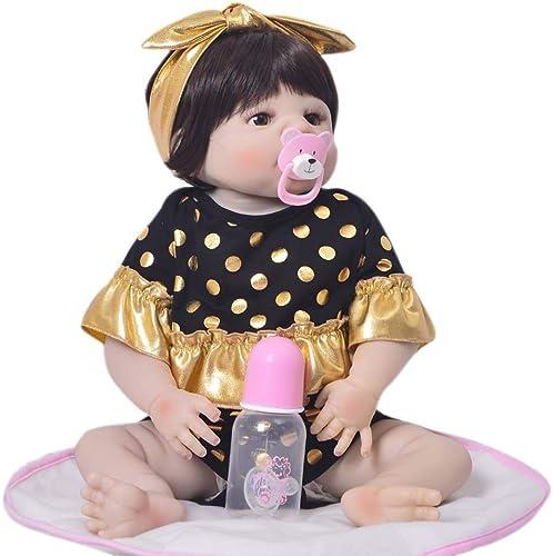 Real Touch 22 Realistische Reborn Babypuppe, realistische und lebensechte Weißhe Silikon suchen Neugeborenes Baby Doll Beste Geburtstagsgeschenk für Alter 3