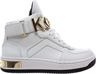 219ae26f3 Michael Kors Cortlandt High Top Leather 43R9HOFE5L Optic White Gold Scarpe  Donna