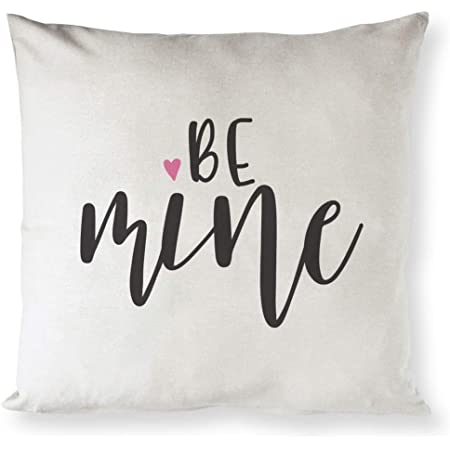 Amazon Com The Cotton Canvas Co Be Mine Home Decor Pillow Cover Pillowcase Cushion Cover And Decorative Throw Pillow Cover For Valentine S Day And Gifts For Her Natural Color Not White Home