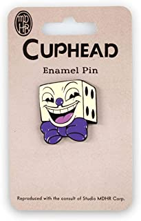 Official Cuphead King Dice Enamel Collector Pin | Perfect Collectors Pin for Video Game and Cuphead Fans Grey