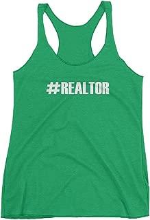 Get Thread Hashtag Realtor - Real Estate Agent Slogan Womens Racerback Tank Top