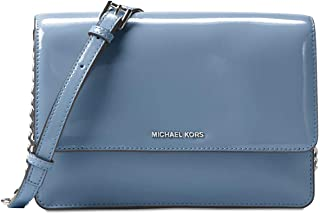 Daniela Large Crossbody Patent Leather Denim Blue