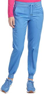 Med Couture Touch Women's Jogger Yoga Scrub Pant, Ceil, Large Tall