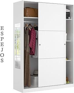 HABITMOBEL Armario Oficina con estantes de 204 x120 Espejos Incluidos