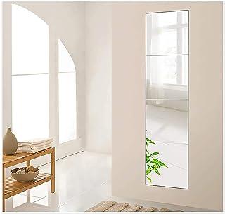 Goleng 4-Piece 11 Inch Wall Mirror Full Body Mirror Wall-Mounted Frameless Mirror Hanging Door Mirror Home Workout Gym Mir...
