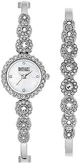 Badgley Mischka Silver-Tone Swarovski Crystal Ladies Watch